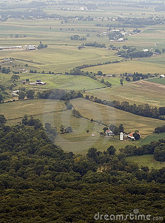Foggy Farms And Fields Maryland No Sky Stock Images - Image: 1522484