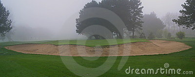 Foggy Golf Bunker