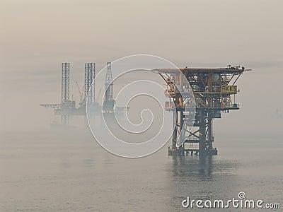 Foggy morning in Persian Gulf