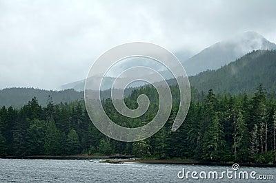 Foggy Mountains near Ketchikan, Alaska