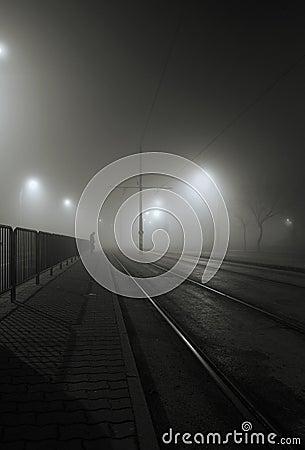Free Foggy Night Stock Photography - 17198852