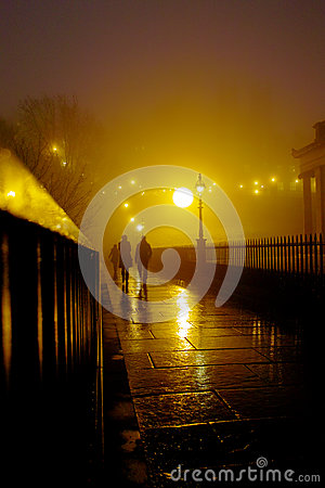 Foggy night Edinburgh
