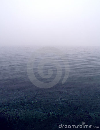 Foggy sea scene
