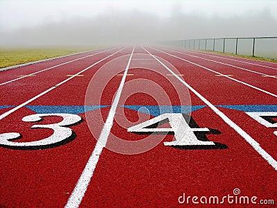Foggy track