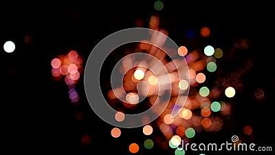 Fogos-de-artifício coloridos