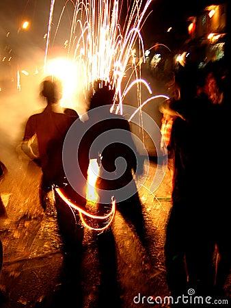 Fogos-de-artifício frescos