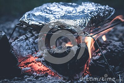Foil Cooked On Metal Grill Free Public Domain Cc0 Image