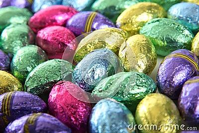 Foil covered mini chocolate eggs