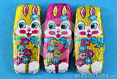 Foil Easter Bunnies