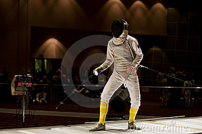Foil Fencer Ready To Compete