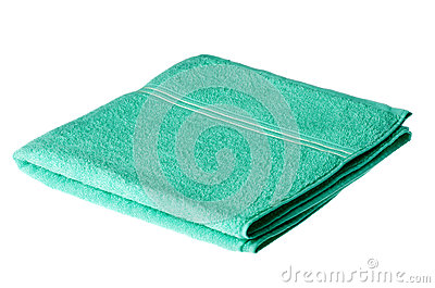 Folded bath towel