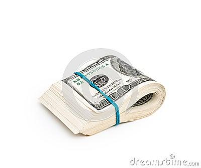 Folded hundred dollar