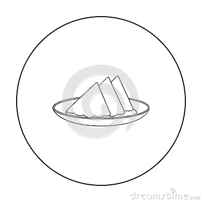 Free Folded Napkins On The Plate Icon In Outline Style Isolated On White. Event Service Symbol Stock Vector Stock Image - 86304741