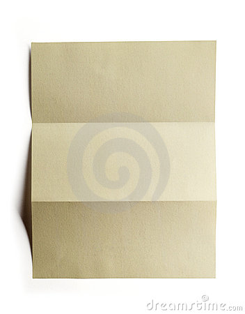 Folded paper with clipping path