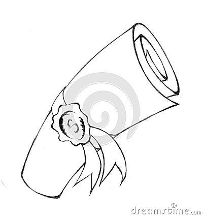 Folded scroll