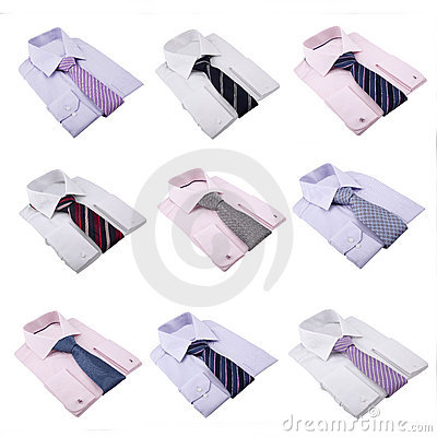 Folded Shirts and Ties