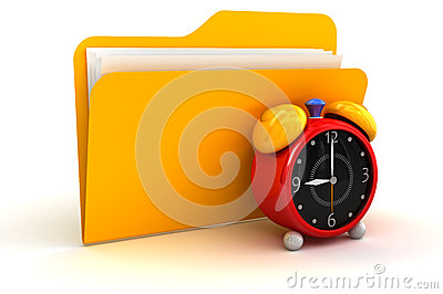 Folder and alarm clock