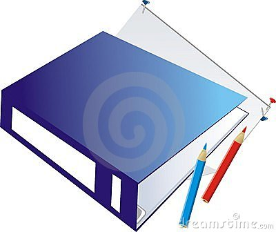 Folder-binder and pencils