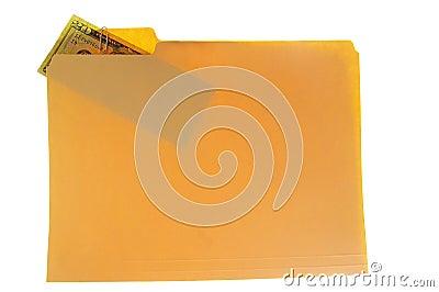 Folder and cash