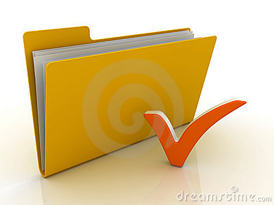 Folder with check mark