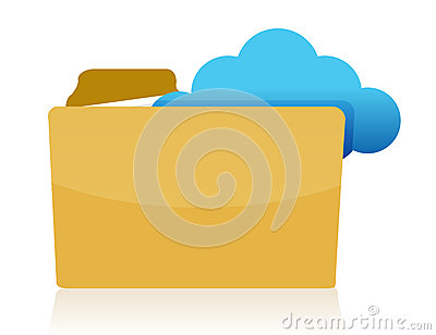 Folder cloud storage