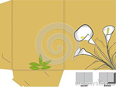 Folder with die cut (calla lilies)