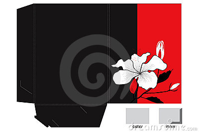 Folder with die cut and decorative lily