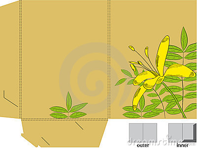 Folder with die cut (Lily flowers)