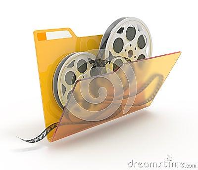 Folder with films.
