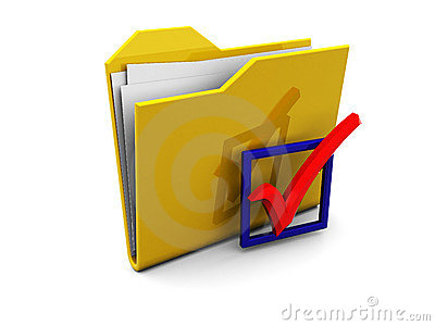 Folder icon with checkbox