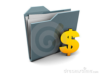 Folder icon with dollar sign