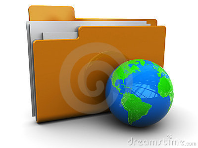 Folder icon with earth