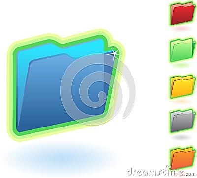 Free Folder Icon Set Stock Photos - 9362923