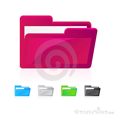 Free Folder Icons Royalty Free Stock Photo - 12966635