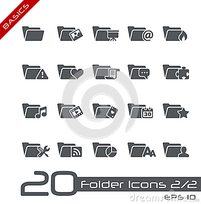 Folder Icons - 2 of 2 // Basics
