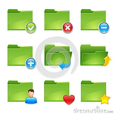 Free Folder Icons Royalty Free Stock Image - 7795836