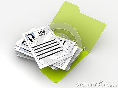 Folder with job profiles