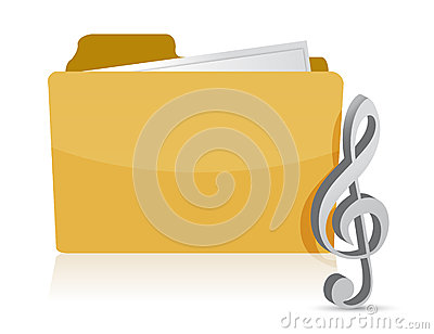 Folder music illustration design