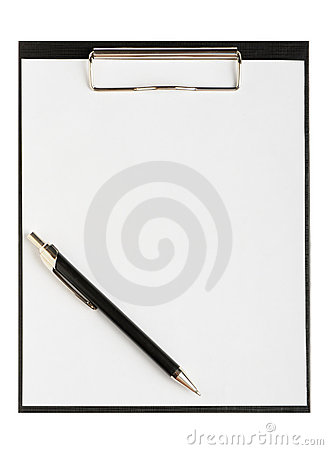 Folder for papers with pen