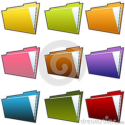 Free Folder Set Royalty Free Stock Photos - 15356148