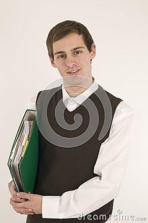 Folder under ones arm front