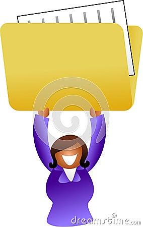 Folder woman
