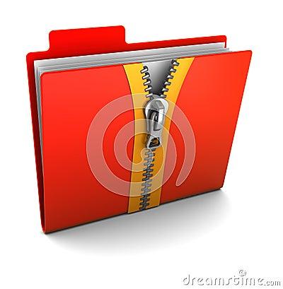 Folder with zip