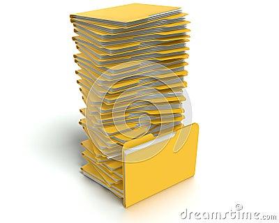 Folders/files concept.
