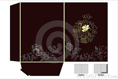 Folders with floral ornament