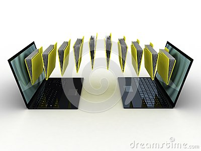 Folders  fly into your laptop