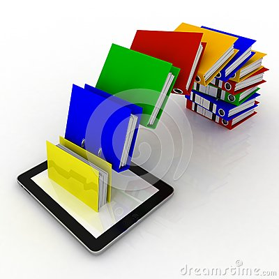 Folders fly into your tablet