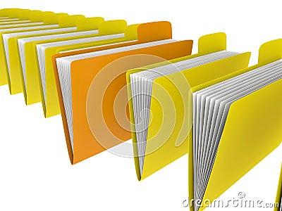 Folders in row