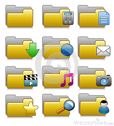 Folders Set - Computer Applications Folders 04