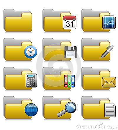 Folders Set - Office Applications Folders 07